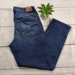 {American Eagle}Dark Wash Stretch Leg Stretch Jean